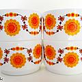Vaisselle vintage ... tasses arcopal (o75) * soleil