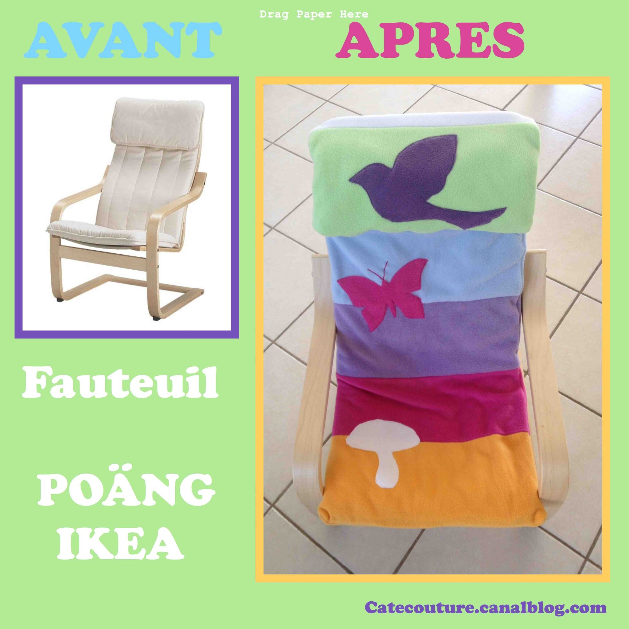 Comment Faire Une Housse De Fauteuil fauteuil tristounet relooké version multicolor punchy