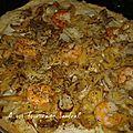Pizza aux crevettes 10 pp pour 1 pers