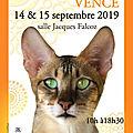 Exposition de vence les 14 et 15 septembre 2019: