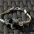 bracelet perles noires 037