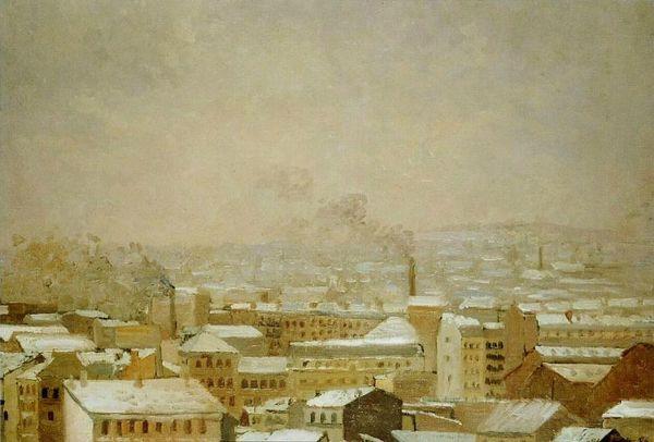 caillebotte-gustave Paris sous la neige 1886