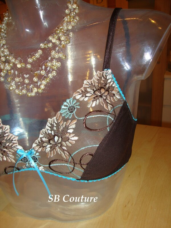 soutien gorge choco& turquoise 2
