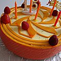 Entremet fruits de la passion et fruits rouges : une tuerie !!!