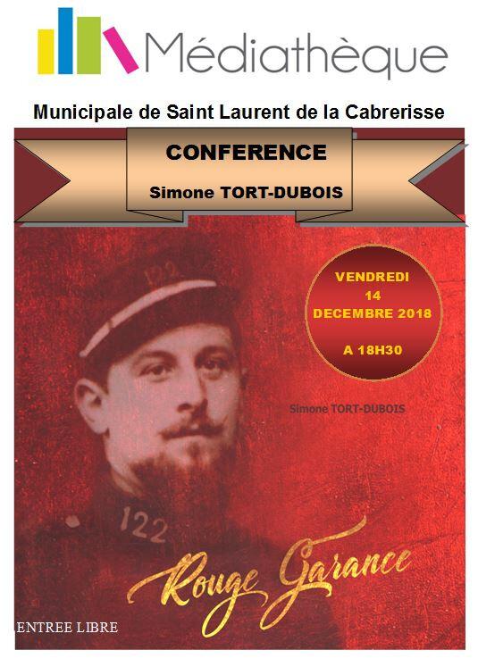 affiche conférence Tort-Dubois