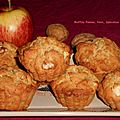 Muffins pomme-noix-spéculoos.