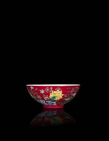 A_rare_and_brilliantly_enamelled_ruby_ground__yangcai___floral__bowl1