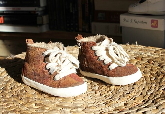 cozy fresh super cute on feet at Basket fille marrons fourrées Zara baby Taille 19 - Le ...