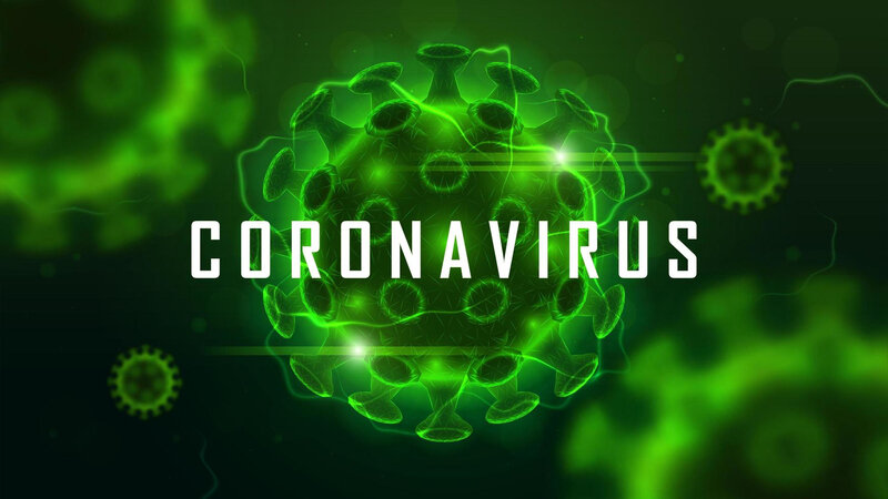 coronavirus-cell-structure-on-green-vector