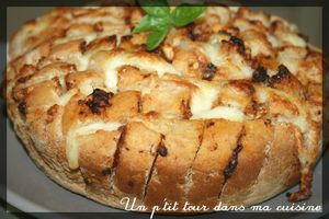 Red cheesey pull-appart bread