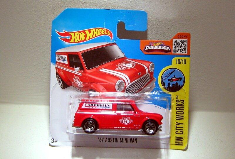 Austin mini van de 1967 (Hotwheels 2016)