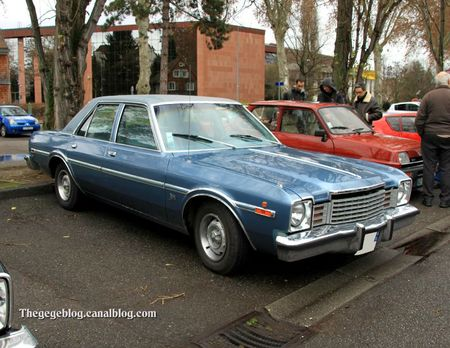 Dodge aspen special edition 4door sedan de 1978 (Retrorencard janvier 2012) 01