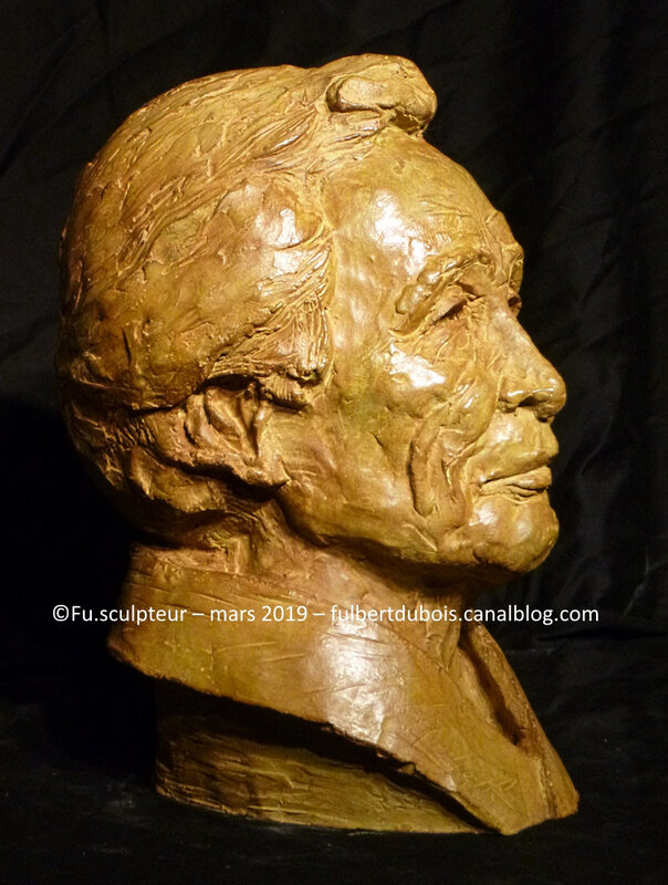 Fu - sculpteur - bronze - portrait - buste - Tamura - sculpture - aikido - art - création - artiste - Fulbert DUBOIS