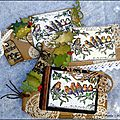 A set of christmas tags and cards for crafty individuals - une série de cartes et tags pour crafty individuals