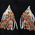 Boucles d'oreilles en perles miyuki