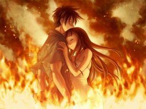 couple flamme
