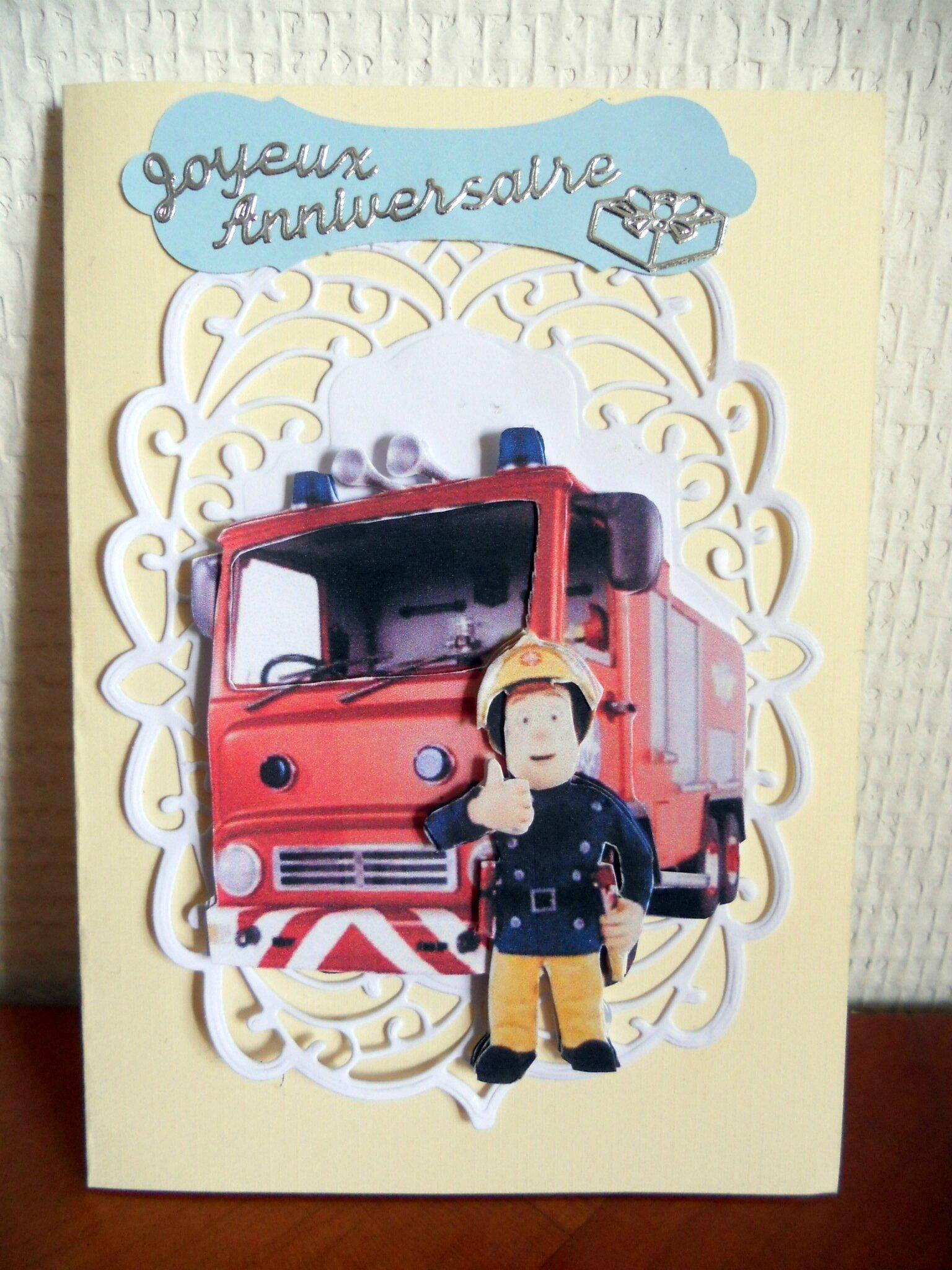 Carte Sam Le Pompier Nerina Passions