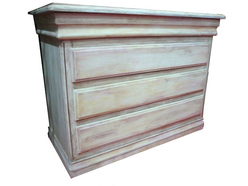 COMMODE PEINTURE A L'ESSUYE SUPERPOSEES