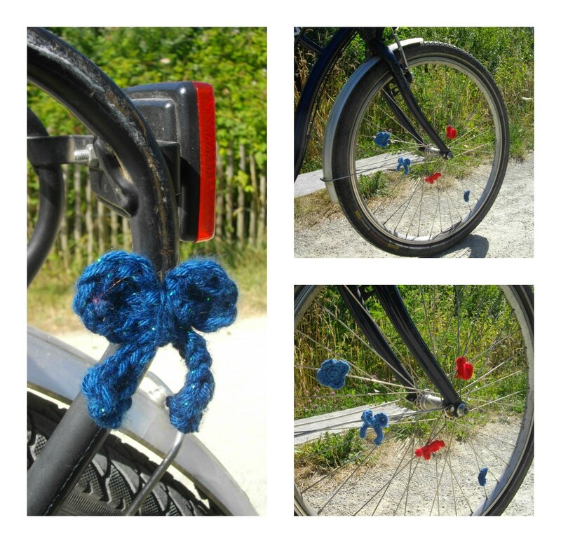 customisation-roue-vélo-crochet-laine-noeud-coeur