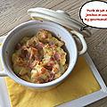 Purée de pommes de terre au jambon et comté ( 424 cal / par personne)