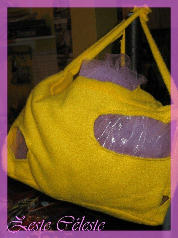 Le sac du costume de souris.