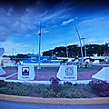 Rond-point à chetumal (mexique)