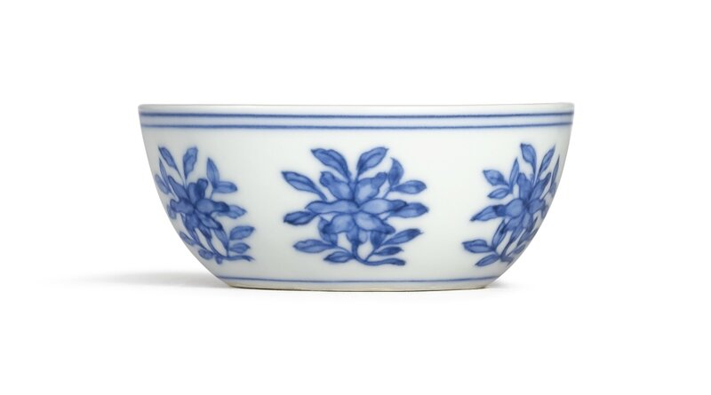 An Extremely Fine and Rare Blue and White Cup, Mark and Period of Chenghua (1465-1487)