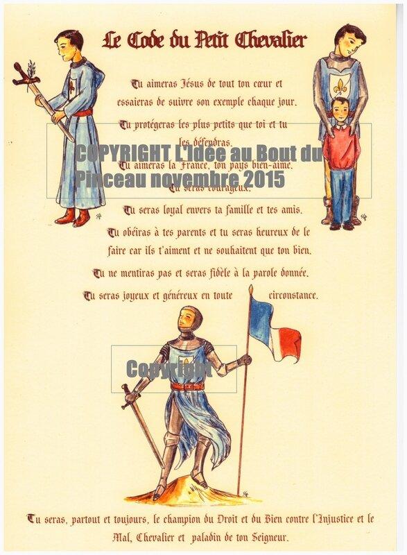 Code du Petit Chevalier nov 2015 Idée au bout du Pinceau Copyright