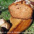 Cake a la farine de chataigne, miel et noix