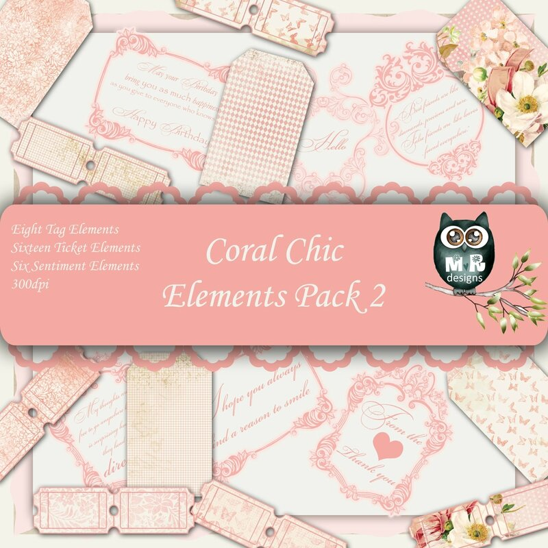 Coral Chic Elements Front Sheet Pack 2