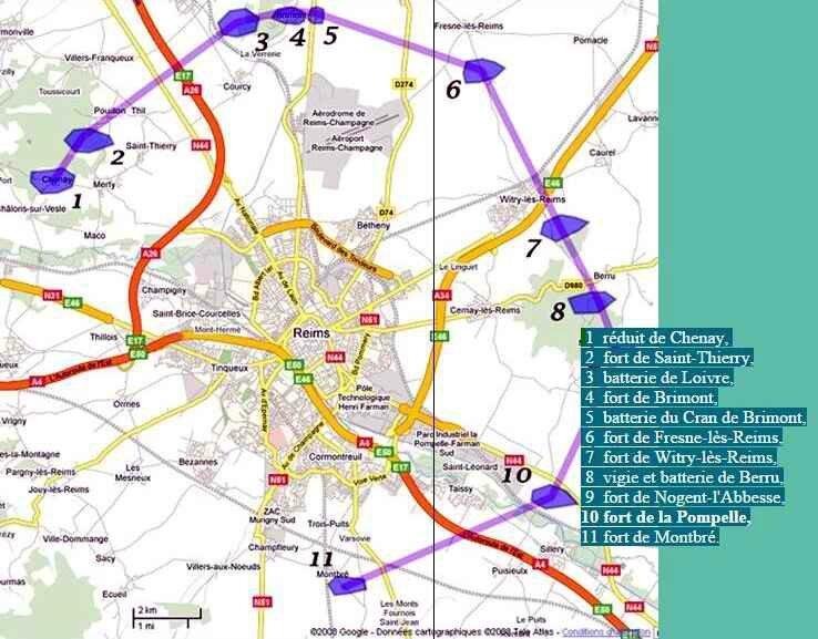 Forts autour de Reims