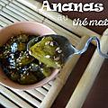 Ananas caramélisé au thé matcha
