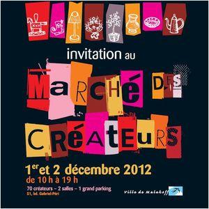 Invitation Marche createurs Malakoff dec 2012