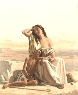 Abram-a,Agar et Ismaël dans le désert
