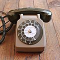 1 téléphone marron-beige