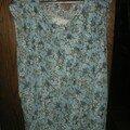 tunique bleue en dentelle motifs fleurs faite au printemps 2006