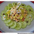 Saumon en salade pour gourmet et des choses a vous dire ...