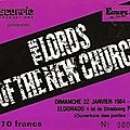 The lords of the new church - dimanche 22 janvier 1984 - eldorado (paris)