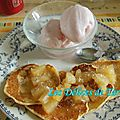 Pancakes à la noix de coco, sauce à l'ananas caramélisé