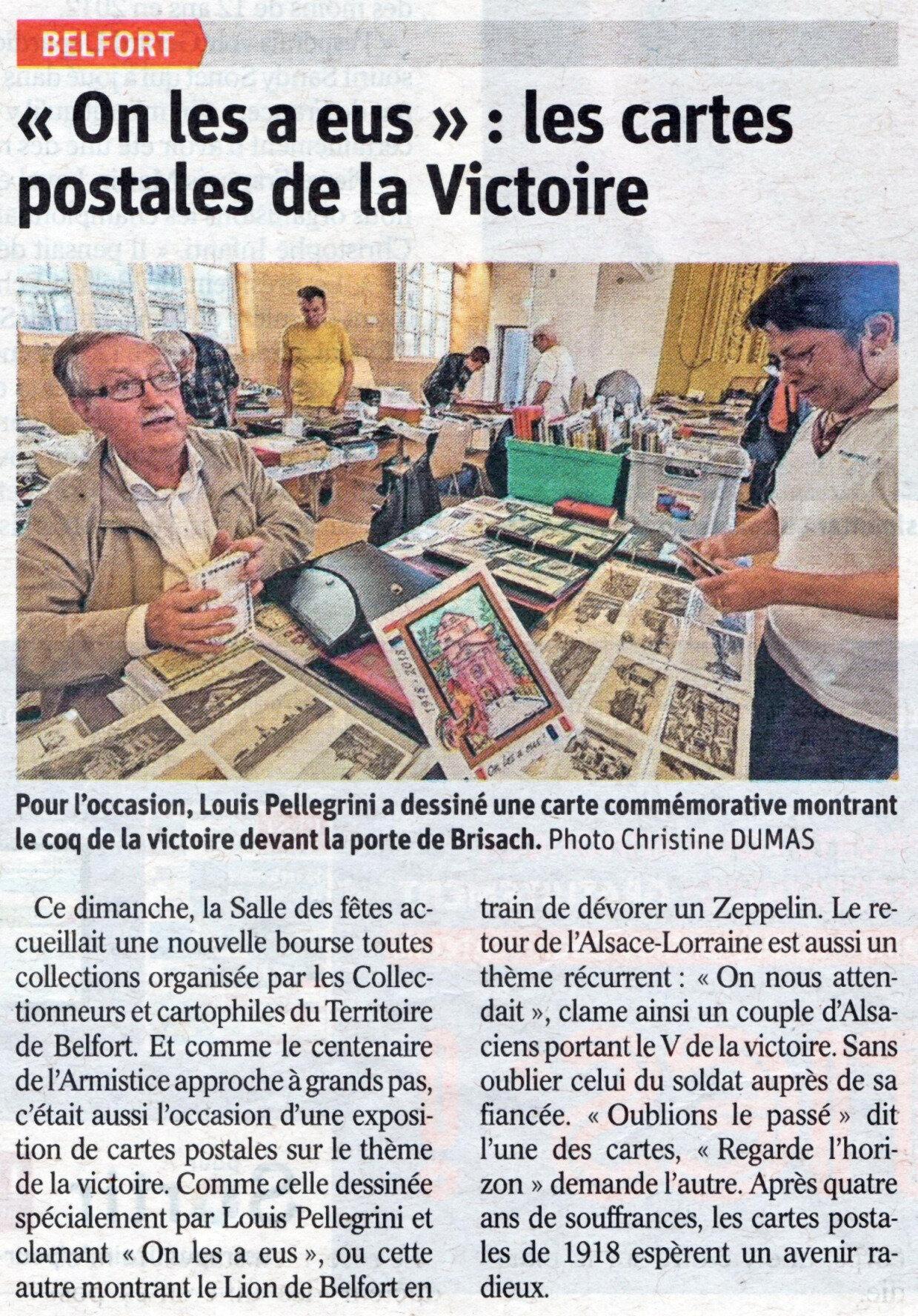 43e Bourse toutes collections de Belfort, la presse est venue prendre la température à la Salle des Fêtes…