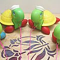 Tortues à tirer - Fisher Price - années 70