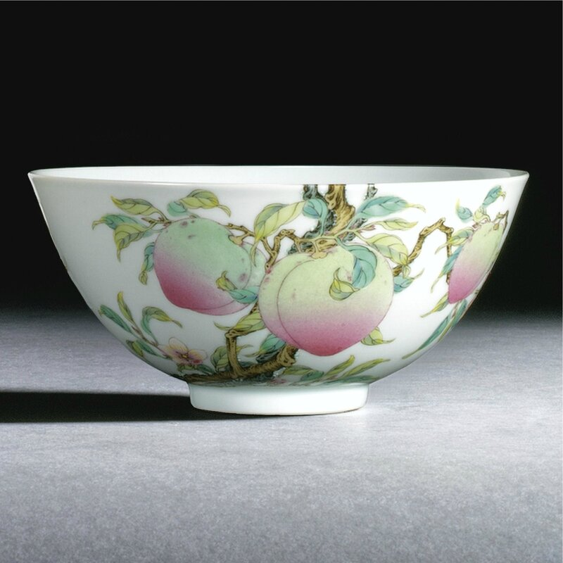 A fine 'famille-rose' 'Peach' bowl, mark and period of Yongzheng