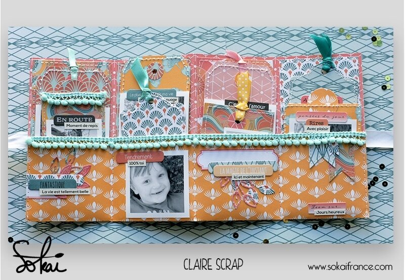 mini tag Maé - collection So'leil levant- ouvert #1 - claire scrapathome - sokai