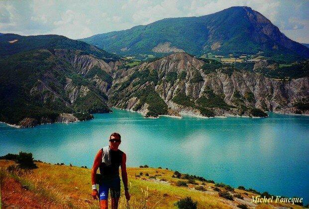 88a) Tour du lac de Serre Ponçon à vélo