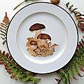 Assiette cèpes de bordeaux - marimerveille