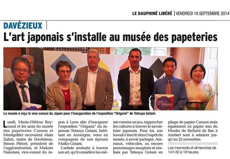article de journal 19092014- Expo au musee Canson-t