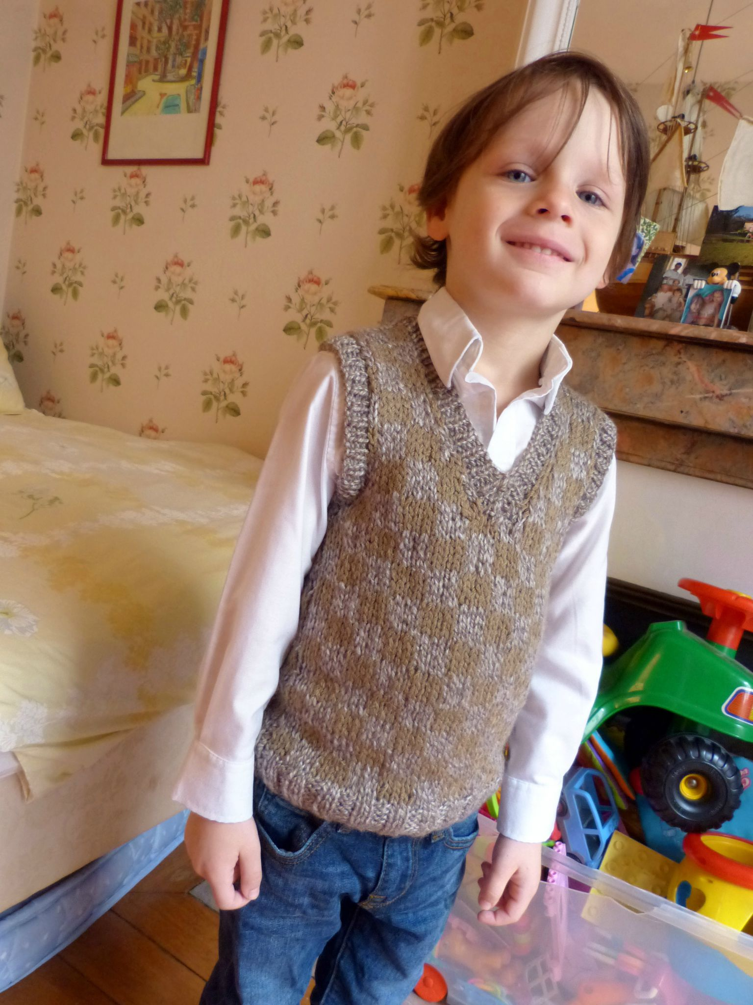 Pull en jacquard taille 5 ans