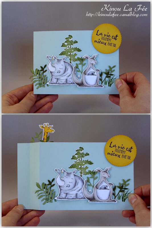 Carte essuie glace duo animaux 2