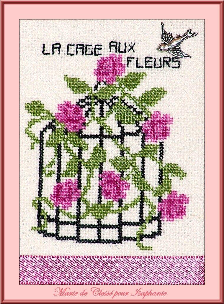 Échange ATC Perso (Cage à oiseaux ou fleurs) Marie de Clessé pour Isaphanie (1)