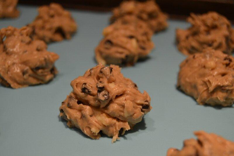 Cookies pomme, pépites de chocolat (2)